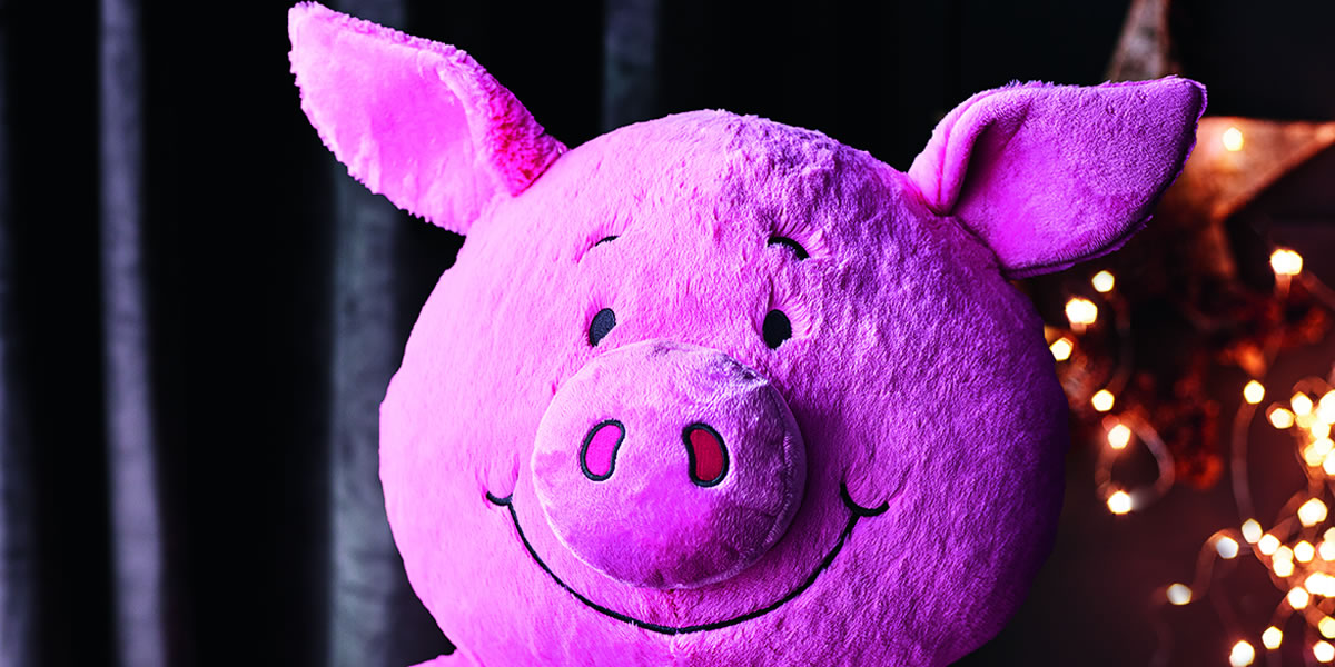 Image Of Marks And Spencers Percy Pig Soft Toy