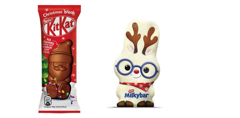 Image Of Nestlé KitKat Santa And Milkyway Reindeer