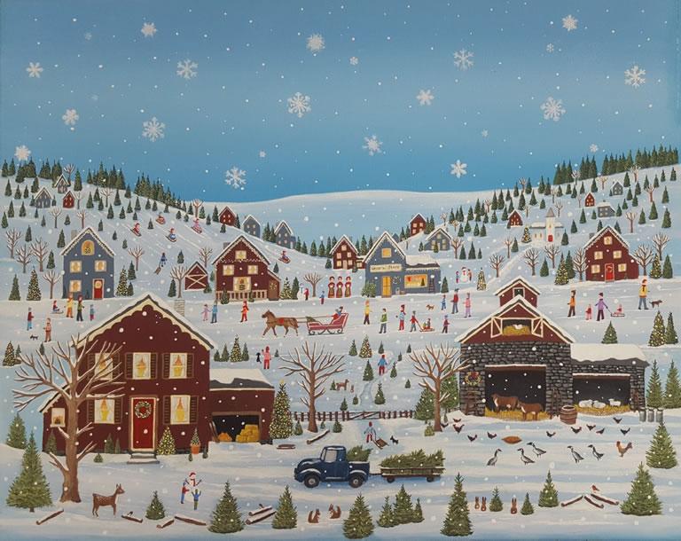 Image Of Snowy Village Jigsaw