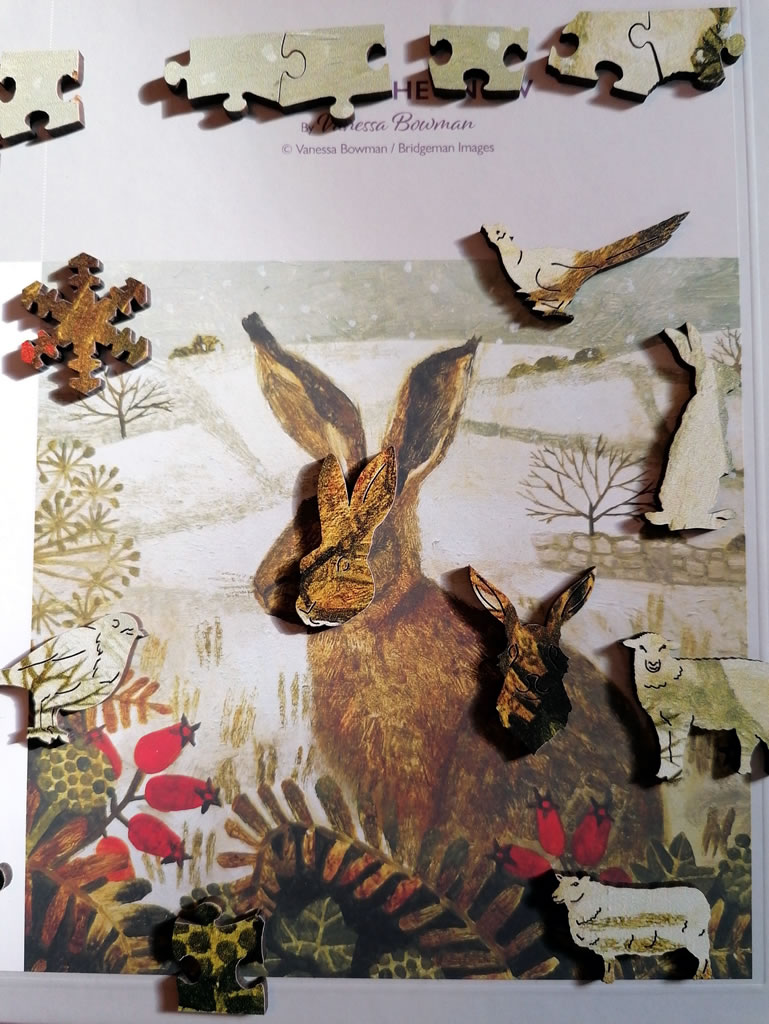 Image Of Wentworth Puzzle Hare In The Snow