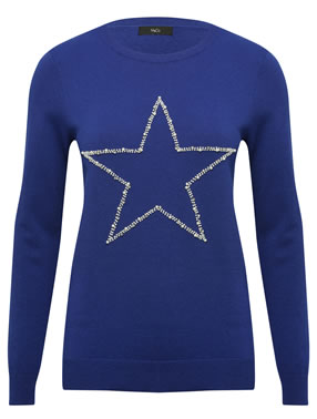 Image Of M&Co Christmas Star Jumper