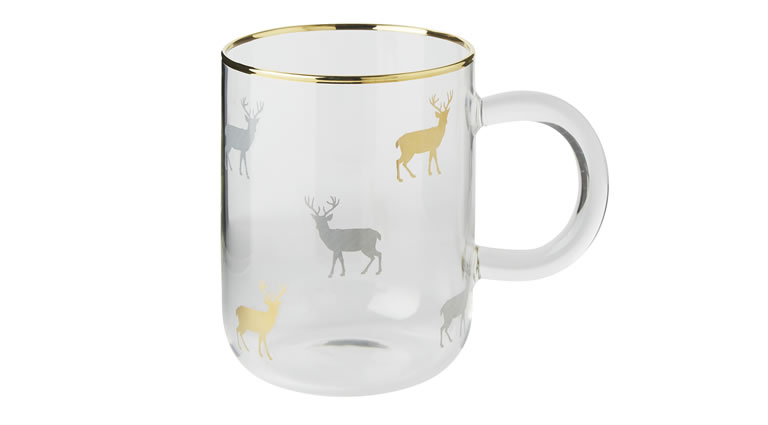 Image Of Matalan Frosted Stag Mulled Wine Mug