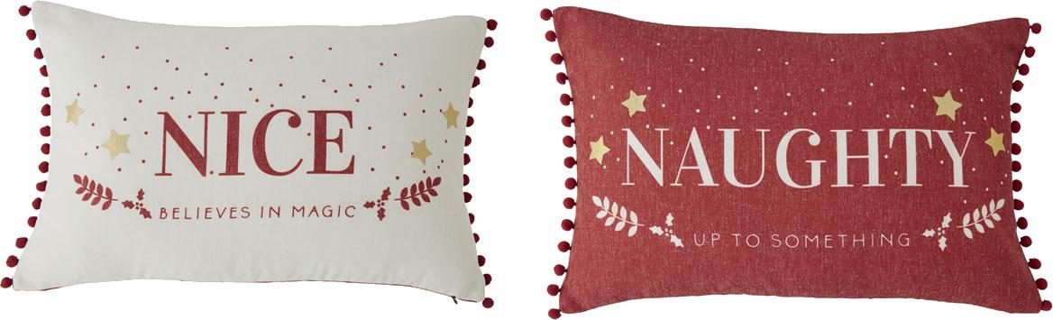 Matalan Nice Or Naughty Double Sided Cushion