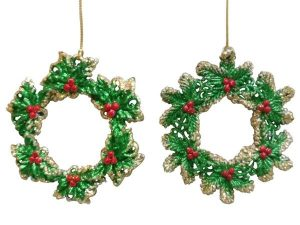 Christmas Baubles and Tree Decorations - The Range - Traditional Wreath Hanging Decoration