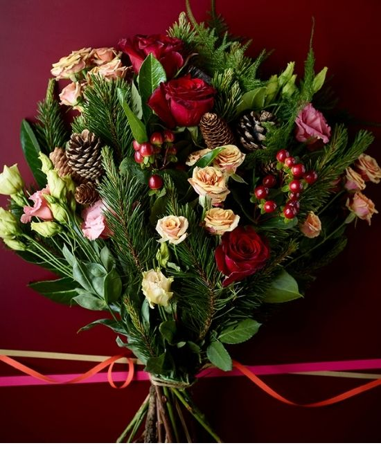 Christmas Flowers 2020: No.1 Christmas Bouquet
