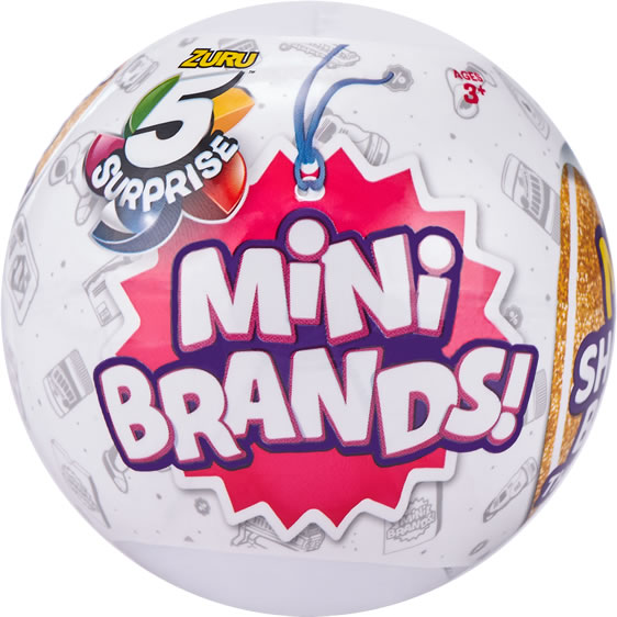Image of 5 Surprise Mini Brands Mystery Capsule Real Miniature Brands Collectible Toy by ZURU