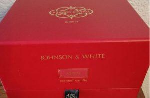 Johnson and White Aromas Limted Edition Aspen Christmas candle - Gift Box