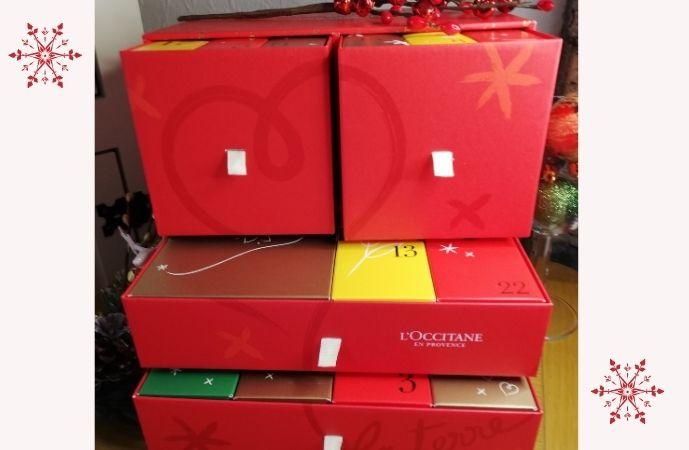 L'Occitane Luxury Advent Calendar 2020 - Red Box Open