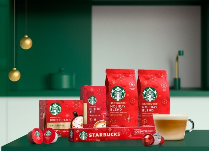 Nestlé Starbucks Toffee Nut Latte and Holiday Blend Fetsive Coffee
