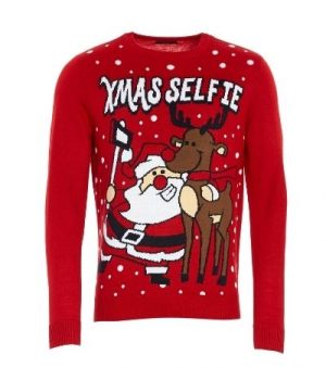 Studio Xmas Selfie Knitted Jumper £15.00