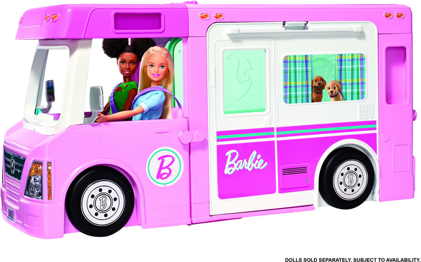 Image of Barbie 3-in-1 DreamCamper Vehicle and Accessories