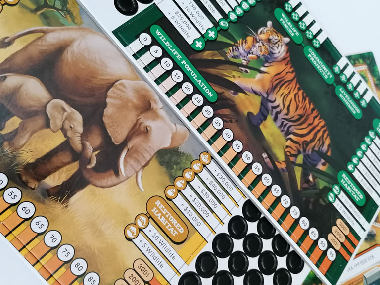 Conservation Crisis Board Game Animals ETC