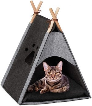 Relaxdays Cat Tent, Pet Teepee