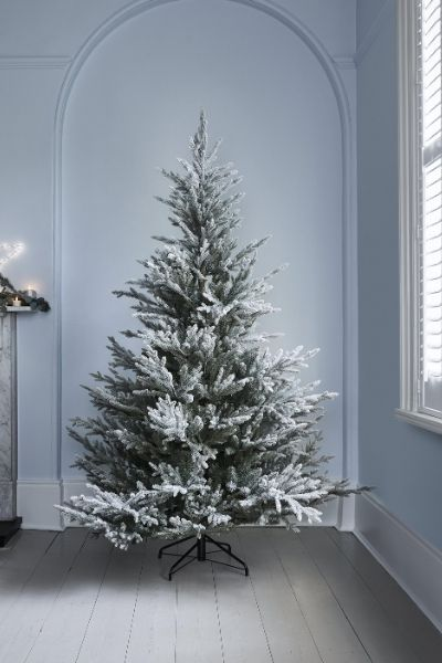 Lights4Fun 7ft Frosted Norway Spruce Christmas Tree