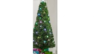 Fibre Optic Star & Ball Christmas Tree