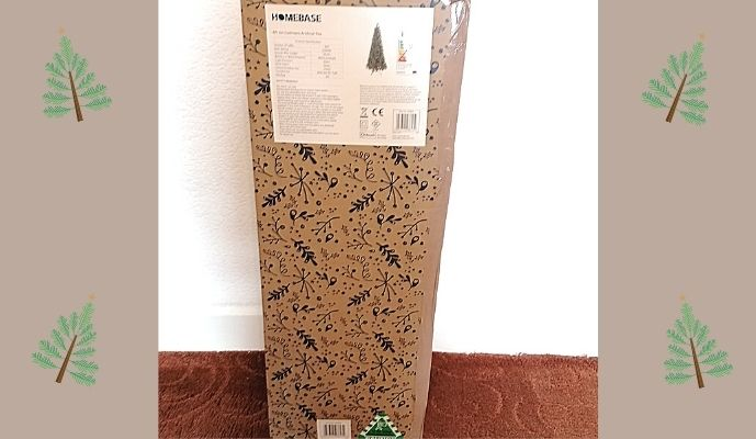 Homebase 6ft 6 Cashmere Pre Lit Christmas Tree - Boxed