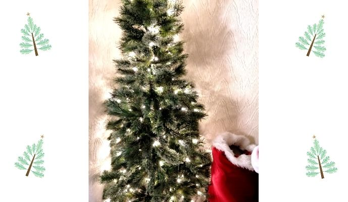 Homebase 6ft 6 Cashmere Pre Lit Christmas Tree - Lights Connected