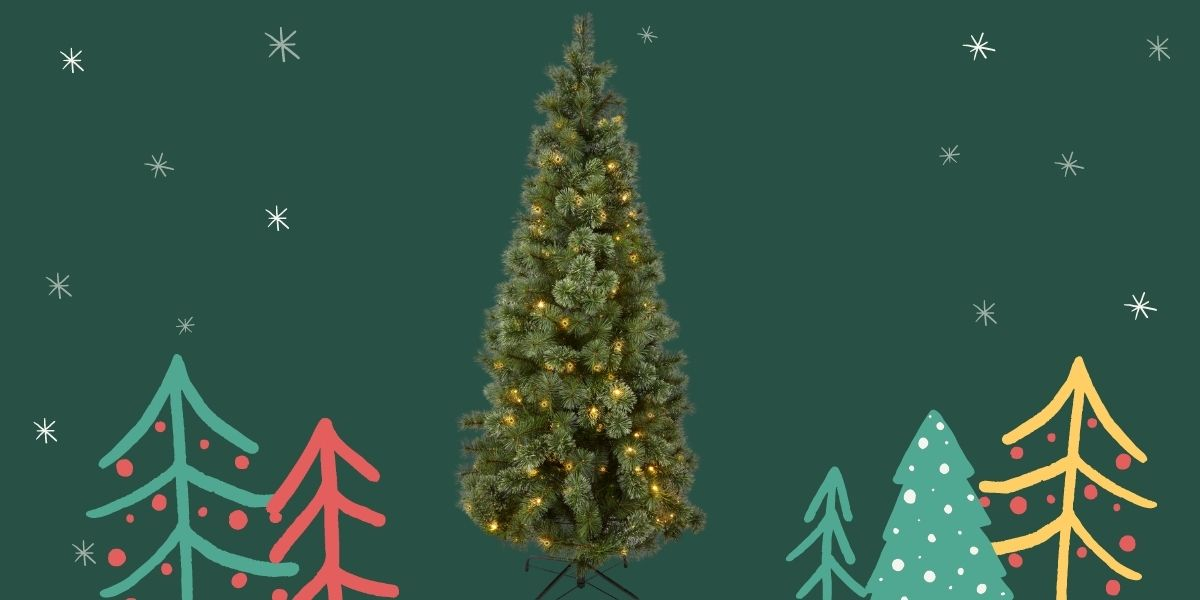 Homebase 6ft 6 Cashmere Pre Lit Christmas Tree