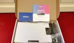 Humax Aura inside box
