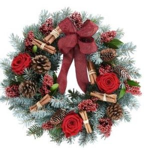 Interflora Christmas wreath made with the finest flowers
