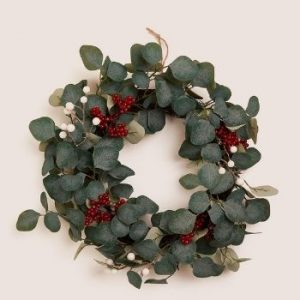 Marks and Spencer 18In Red Berries And Eucalyptus Wreath