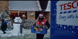 Tesco Christmas Advert - Dropping shopping