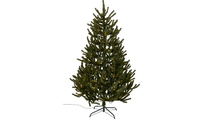 6ft upswept pre-lit artificial Christmas tree
