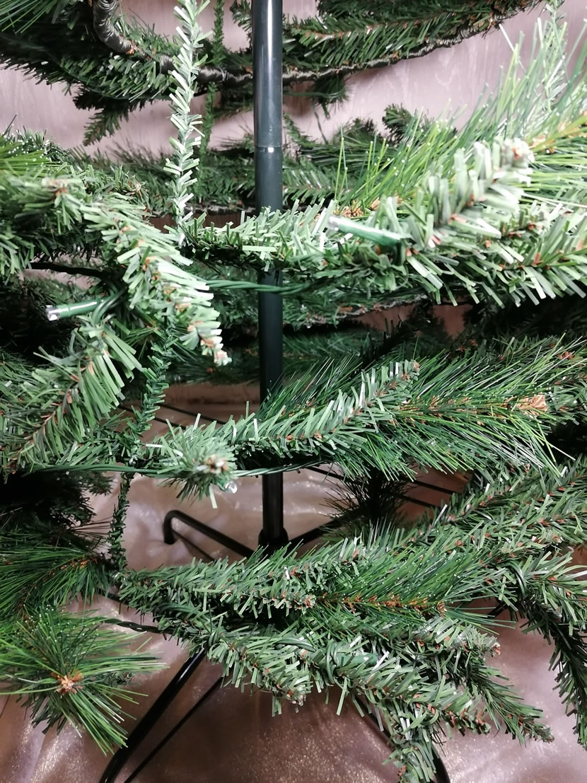 Image Of Homebase 6ft Green Pop Up Pre Lit Christmas Tree