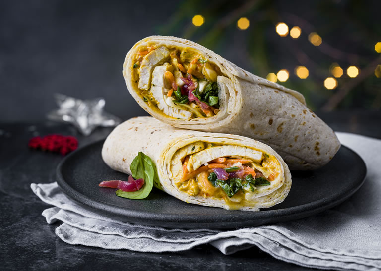 Image of Marks And Spencer Christmas curry wrap