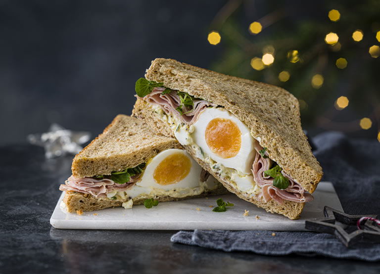 Image of Marks And Spencer ham and egg truffle sandwich