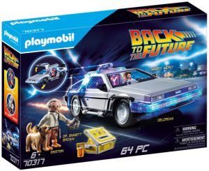 Image Of Playmobil 70317 Back to the Future© DeLorean Toy