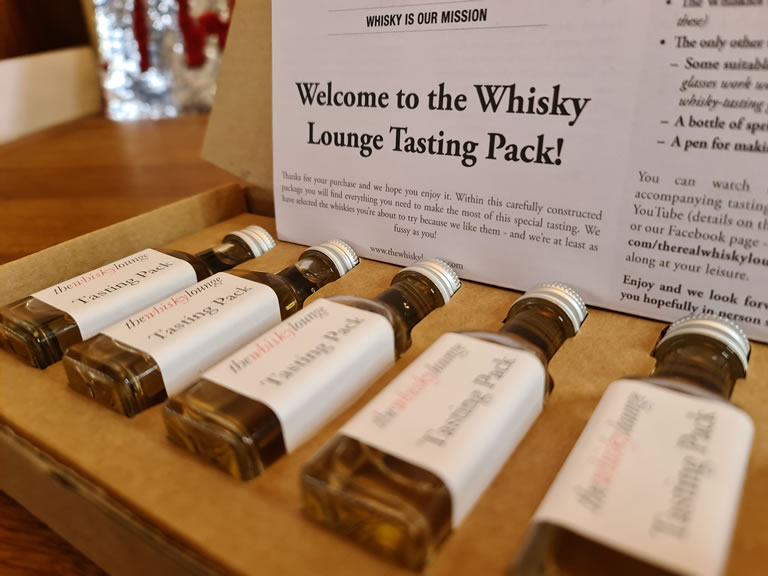 The Whisky Lounge's 'Guide to Whisky' tasting pack