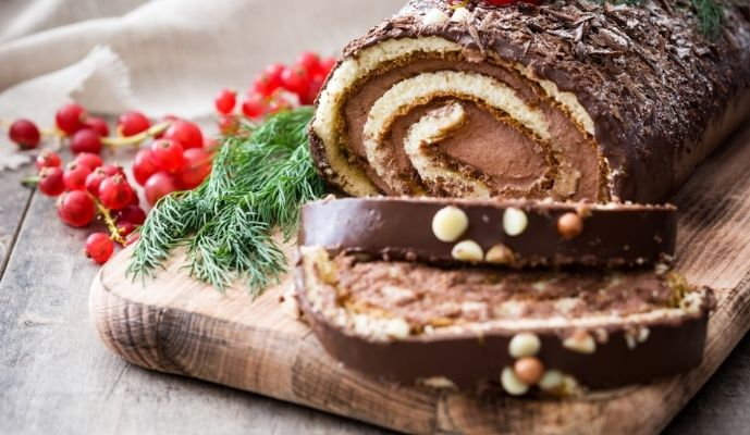 Yule log image