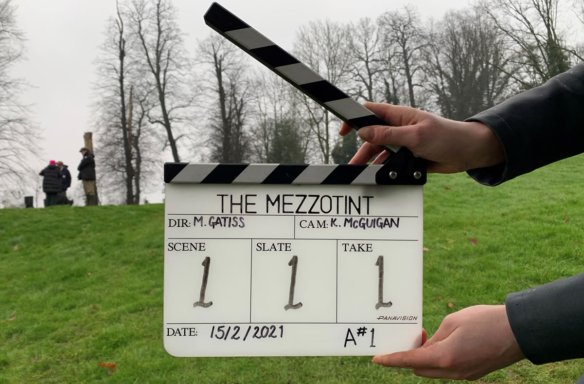 Image of filming from The Mezzotint