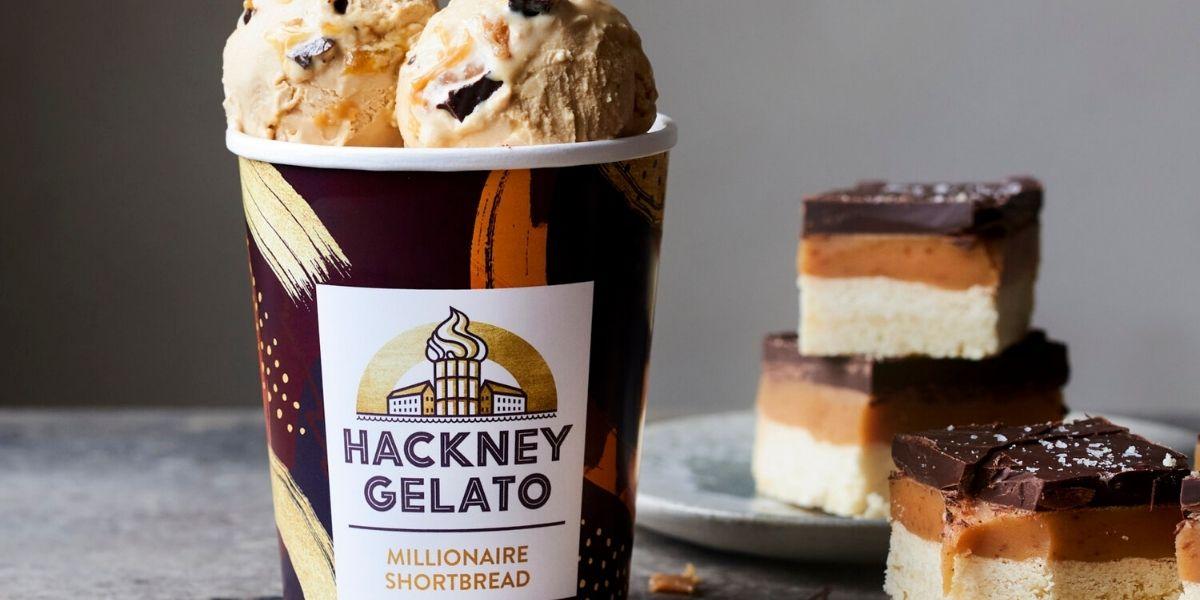 Hackney Gelato Millionaire Shortbread