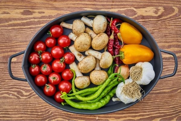 healthy dish of vegetables