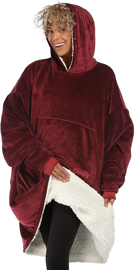 Image of burgundy Comfy Blanket