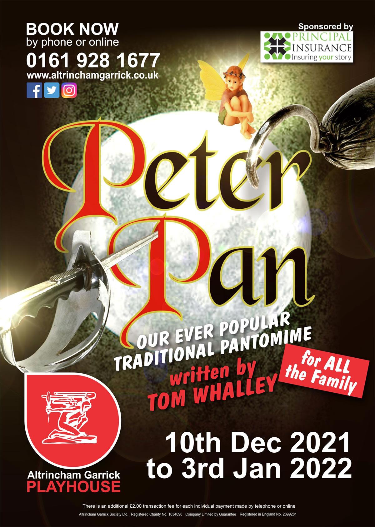 Image of Altrincham Garrick Playhouse Peter Pan pantomime