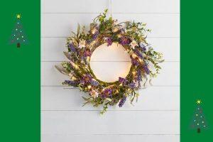 Lights4fun 55cm Lavender Wreath Micro Light Bundle £44.99