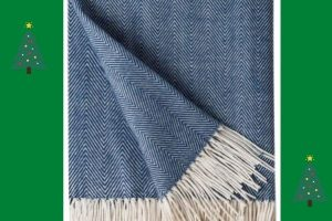 Amazon BOURINA Herringbone Sofa Throw Blanket Faux Cashmere £23.99