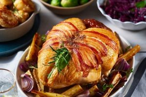 Asda Christmas food 2021 - Turkey Crown with Bacon Trimmings