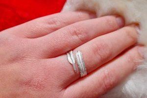 FIYAH Jewellery Adjustable Plume Ring