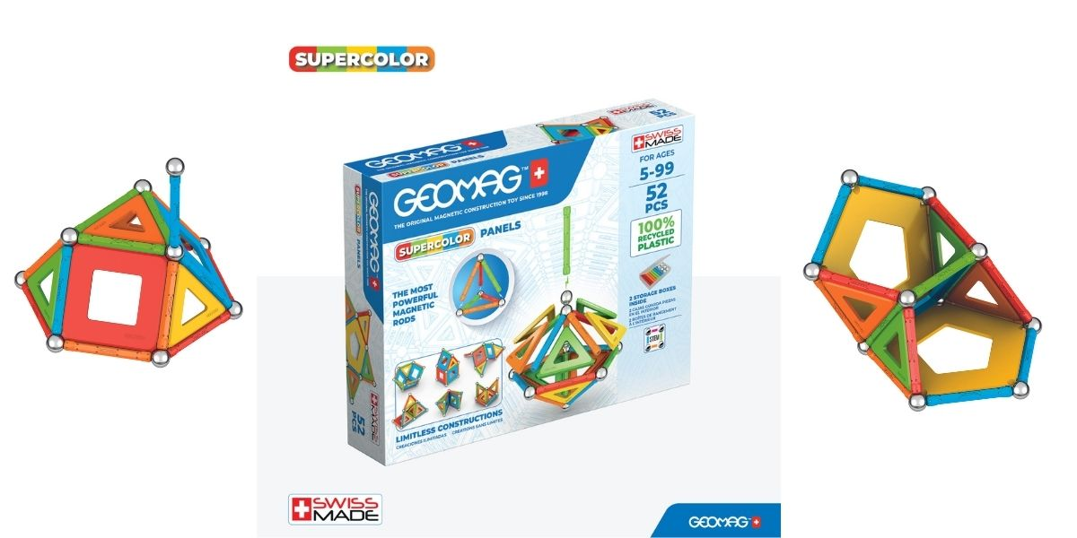 Geomag Supercolour Panels Recycled 52 Magentic Piece Set