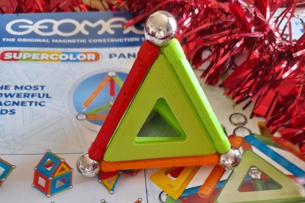 Geomag Supercolour Panels Recycled 52 Magentic Piece Set 3D