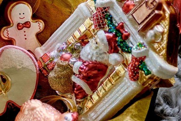 John Lewis Christmas 2021 – Festive Field Santa Fireplace Bauble, £50