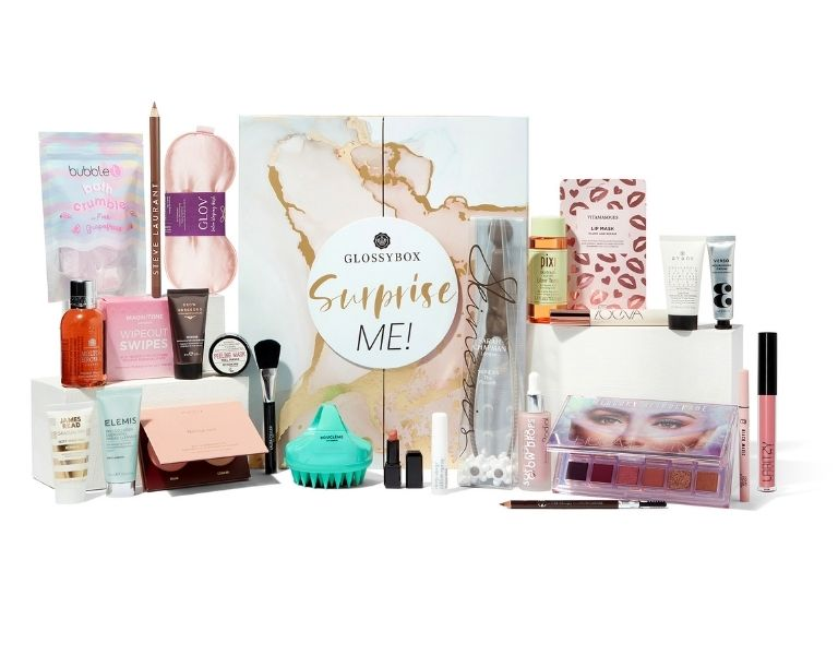 Image of GLOSSYBOX advent calendar 2021 whats inside the box