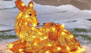 The Range Acrylic Reindeer Mother and Fawn