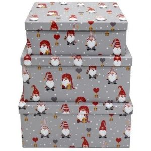 The Range Set of Three Gonk Christmas Boxes