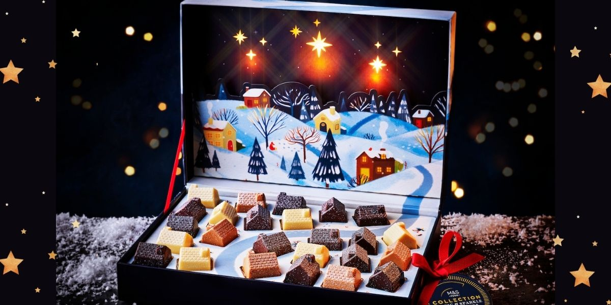 Marks and Spencer Collection Magic & Sparkle Light-Up Chocolate Box, 345g - £20