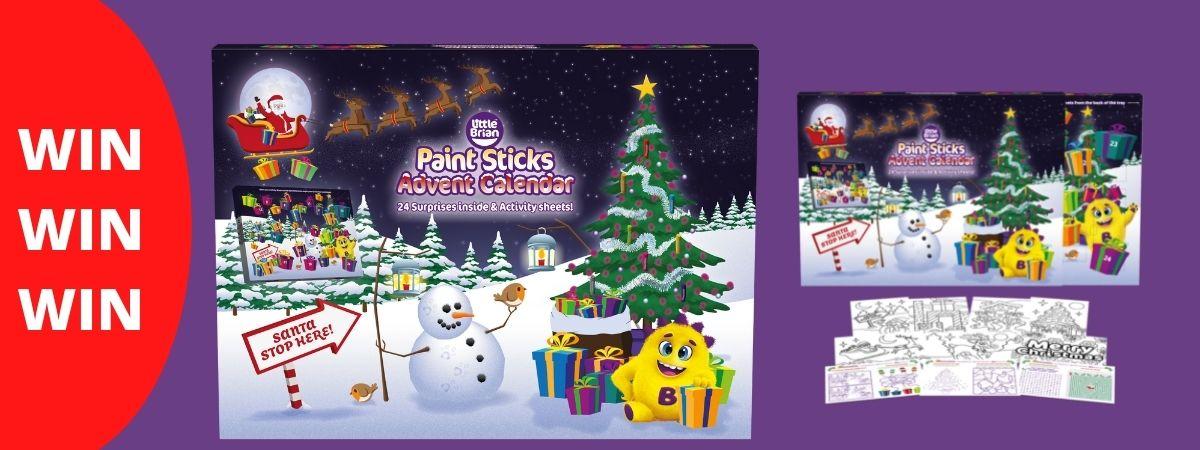 Win Little Brian Paint Stickers Advent Calendar
